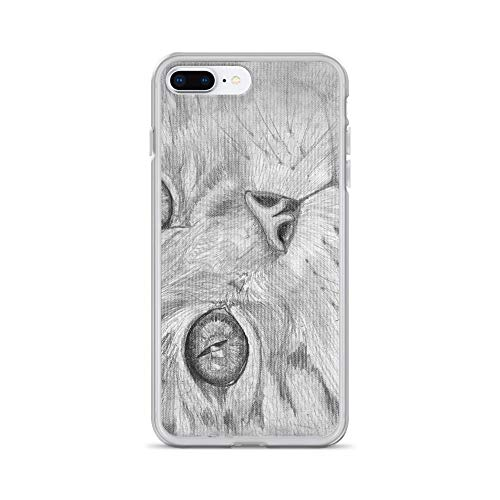 iPhone 7 Plus/8 Plus Case Anti-Scratch Creature Animal Transparent Cases Cover Starry Eyed Cat Animals Fauna Crystal Clear