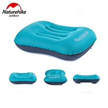 Naturehike Portable Inflatable Pillow Travel One-piece Valve Aeros Pillow Neck Protective Pillow Waist Support Pillow for Camping Office