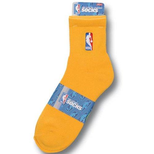 NBA Logoman Quarter Length Sock - Gold ()