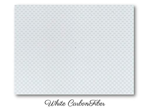 - White Carbon Fiber ABS sheet for boat instrument panels 24