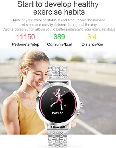 Womens Fitness Tracker Blood Pressure Heart Rate Monitor Activity Tracker Waterproof Pedometer Step Counter Calorie Sleep Monitor Touch Screen Bluetooth Smart Watch for Android iOS 4