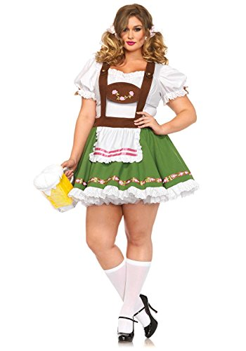 Sexy Oktoberfest Costumes (Leg Avenue Women's Plus-Size Oktoberfest Sweetie Costume, Multi, 1X)
