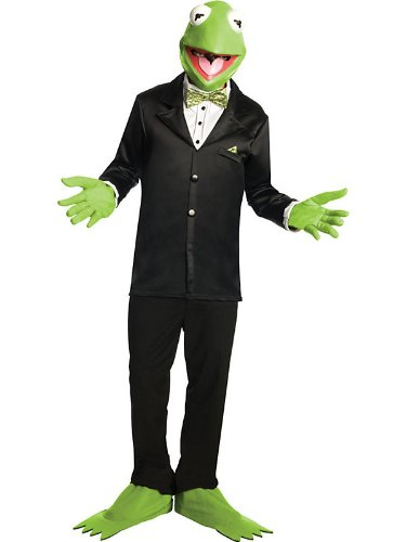 Men's Kermit The Frog Muppets Costume