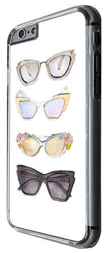 1046 - Cool fun cute sunglasses illustration art designer fashion love shopping ladies girls Design For iphone 5 5S Fashion Trend CASE Back COVER Plastic&Thin Metal -Clear