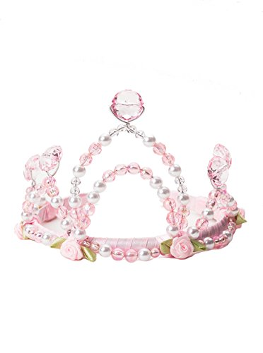Little Adventures Deluxe Pink Princess Crown and Wand Set for (Sleeping Beauty Fairy Costumes For Adults)