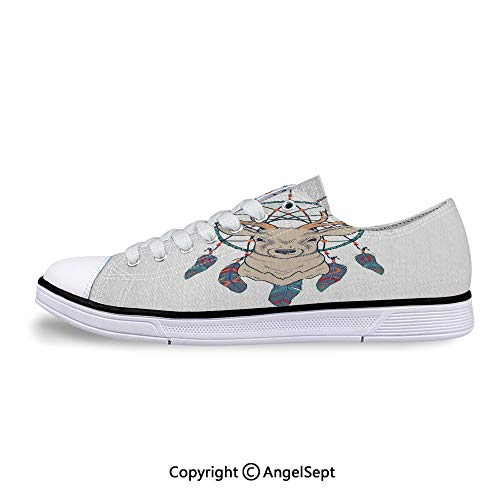 Sneakers for Ladies Native American Tribal Dreamcatcher Ethnic Low Top Canvas S