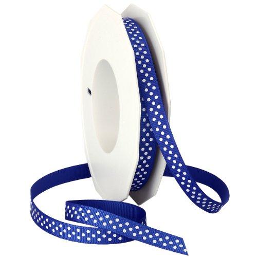 Morex Swiss Dot Grosgrain Ribbon, 3/8-Inch by 20-Yard Spool, (Dot Trim)