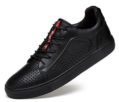 ビジターリクルート手つかずのメンズレースアップフラットシューズオックスフォードスケートボード靴通気性レザースポーツ靴トレンドビジネスカジュアル靴increasedメンズ靴39 – 47サイズ 40