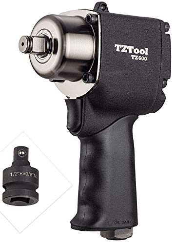 TZTOOL 1/2″ Compact impact wrench with 3/8″ impact adapter Review