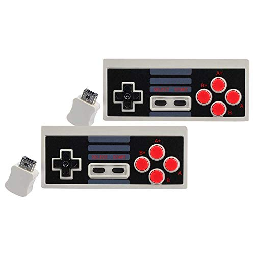 Wireless Controller Generic for Nintendo Nes Classic Edition Mini Nitendo Game System Entertainment Console Games Systems Snes USB Adapter Video Mintendo Gaming Bluetooth Retro 2.4G (2-Pack)