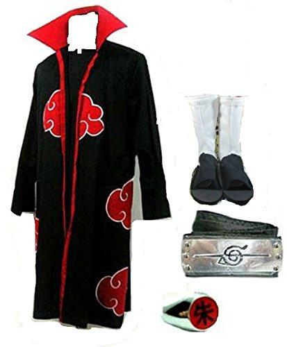 Naruto Itachi Uchiha cosplay costume White Shoes with ring headband