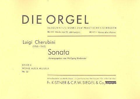 Sonate Mit Obligatem Pedale: Per Organo