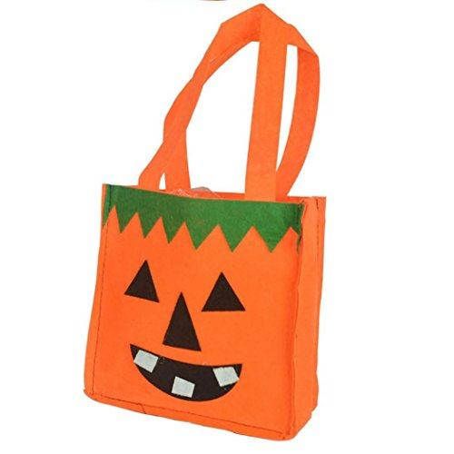 Nadition Halloween Bat Bag,Happy Halloween Devil Bag Kids Candy Handbag Bucket Children Pumpkin Smile -