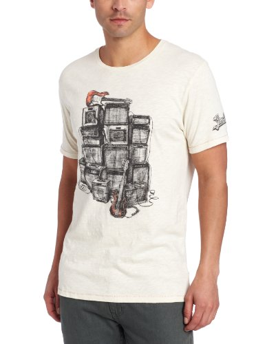 Lucky Brand Men's Fender Amp Graphic Tee, Stone White, X-Large -