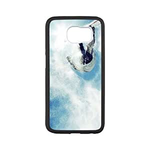 Snowboarding Samsung Galaxy S6 Cell Phone Case White Gmkrs