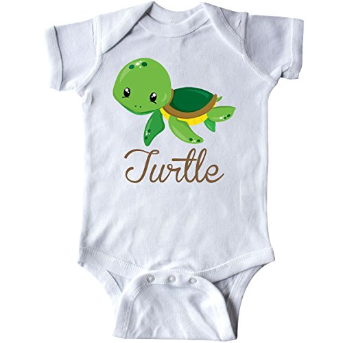 Infant Onesie Creeper (inktastic Little Turtle Infant Creeper 6 Months White)