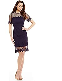 Milly Crew Neck Short Sleeve Mesh Lace Dress Size 4