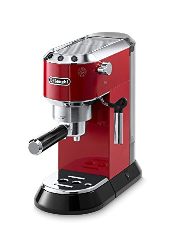 Delonghi EC680R DEDICA 15-Bar Pump Espresso Machine, Red