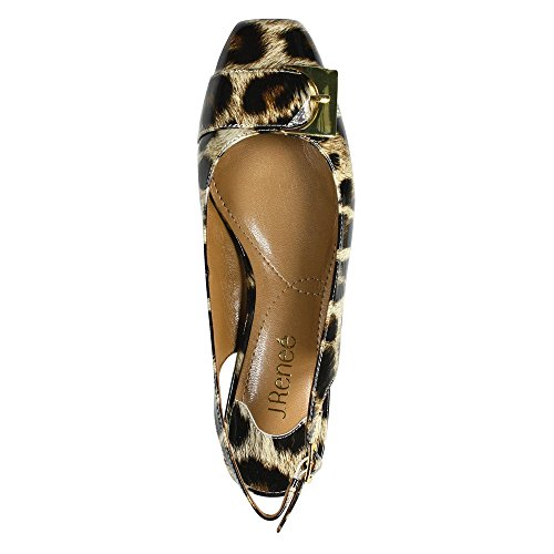 J.renee Mujeres Venda Dress Pump Tan / Black Leopard Print Patent