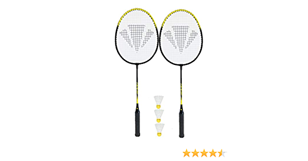 raqueta, lote de volantes de b/ádminton juego de Carlton raqueta de b/ádminton reproductor de 2 Match Play Sports