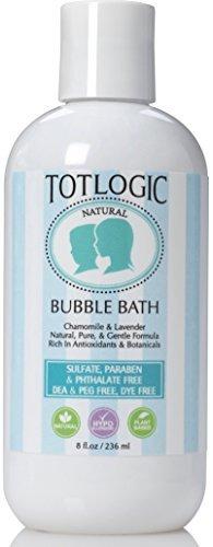 TotLogic Sulfate Free Bubble Bath - 8 oz, Original Scent, Gentle & Hypoallergenic, Rich in Antioxidants & Botanicals, No Parabens, No Phthalates, No Sulfates