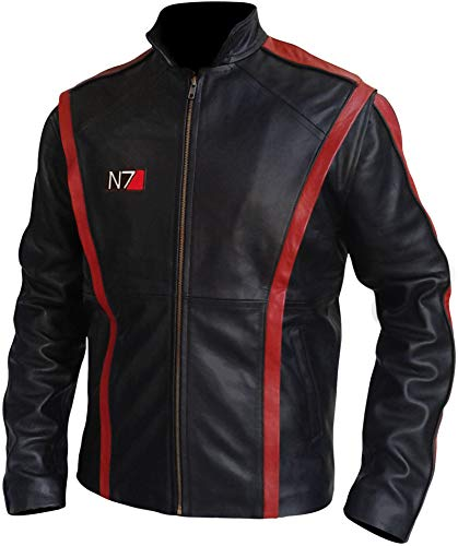 Famous Gamer Mass Effect 3 Black Leather N7 Jacket (S)