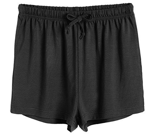 Latuza Women's Boxer Shorts Pajama Bottoms L Black