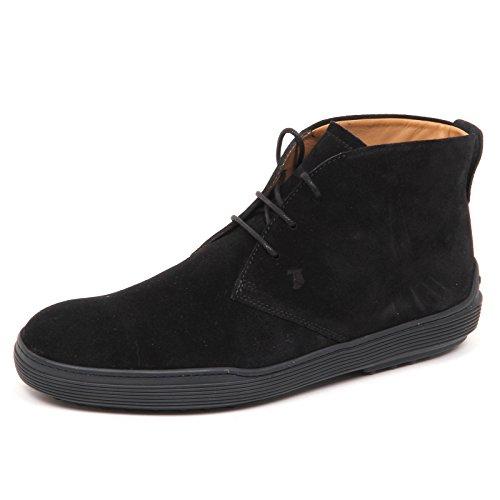 Tod's E3030 Polacchino Uomo Nero Scarpe Boot Shoe Man Nero