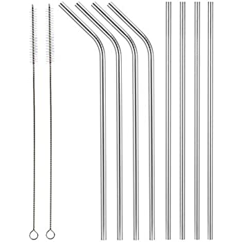 Other Bar Tools & Accessories Reusable Straws Stainless Steel Drinking Straws Set Of 4 Fda Approved For 30oz Durable Service