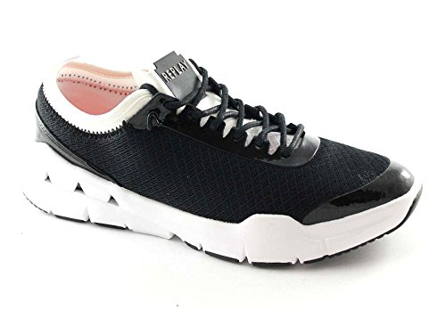 Nero Rs390003s Scarpe Replay Bianco Haute Donna Lacci Tessuto Sneakers EdxqTz7w