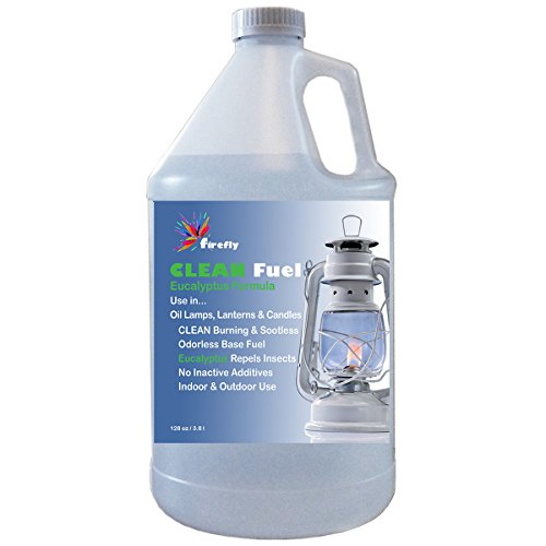 Firefly CLEAN Fuel with Essential Eucalyptus Oil - Lamp Oil - 1 Gallon - Smokeless & Virtually Odorless - Clean Burning