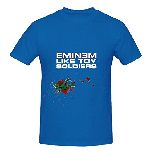 Eminem Like Toy Soldiers Greatest Hits Mens Round Neck Cotton Shirts Blue (Toy Story Girl Name)