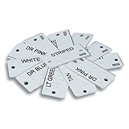Aluminum Braille Clothing Identifiers