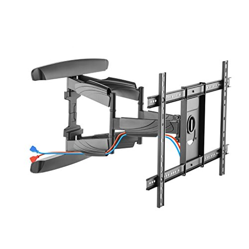 ZWW electronic Rotatable Telescopic TV Rack, 37-70 Inch Universal Wall Mount TV Stand, Adjustable Tilt Angle Large Base LCD TV Stand