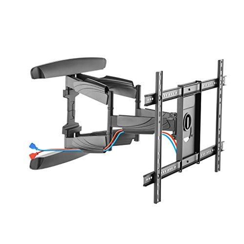 ZWW electronic Rotatable Telescopic TV Rack, 37-70 Inch Universal Wall Mount TV Stand, Adjustable Tilt Angle Large Base LCD TV Stand (Mahogany Tripod Base)
