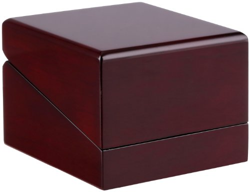 - Diplomat 32-16014 Cherry Wood Leather Box Watch Case
