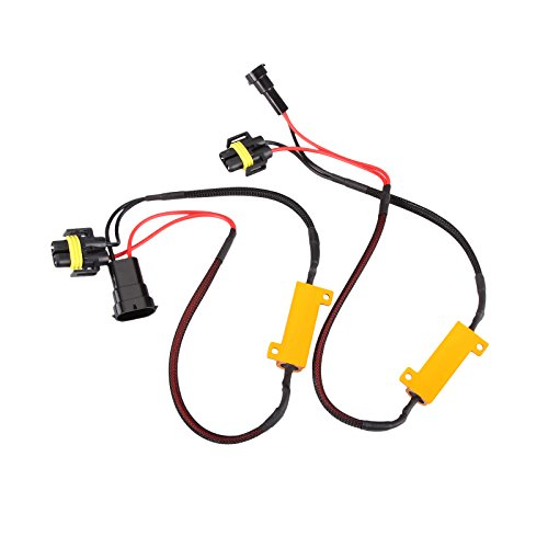 2X H11 LED DRL Fog Light 50W Load Resistor Error Free Decoder Cancel