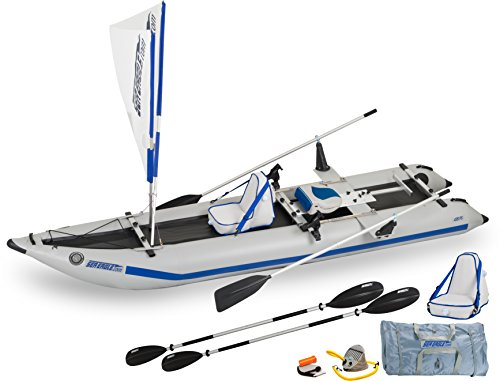 Sea Eagle 435PS Inflatable Paddleski QuikRow 4-in-1 Package