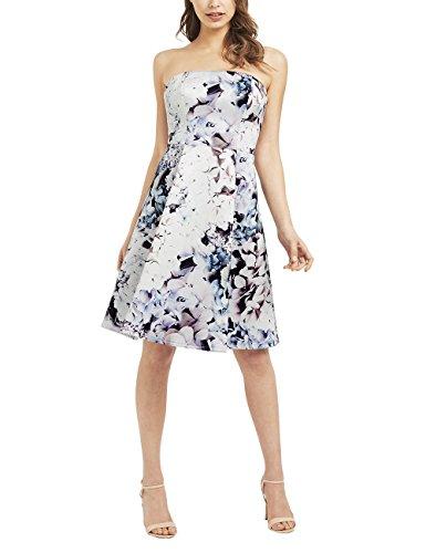 Lipsy Womens Floral Bardot Prom (Lipsy Bandeau)