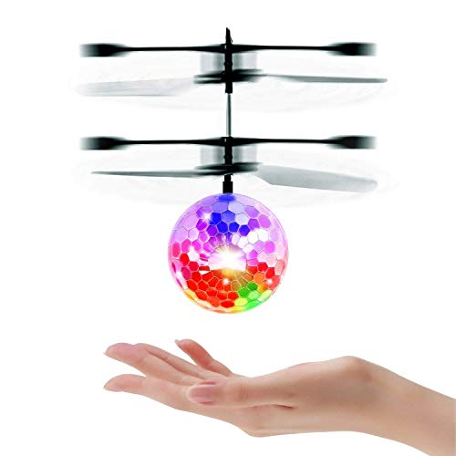 - Mini RC Flying Magic Fun Illuminated Ball - RC Infrared Induction USB Helicopter Ball with Built-in Shinning LED Lighting for Kids, Teenagers.