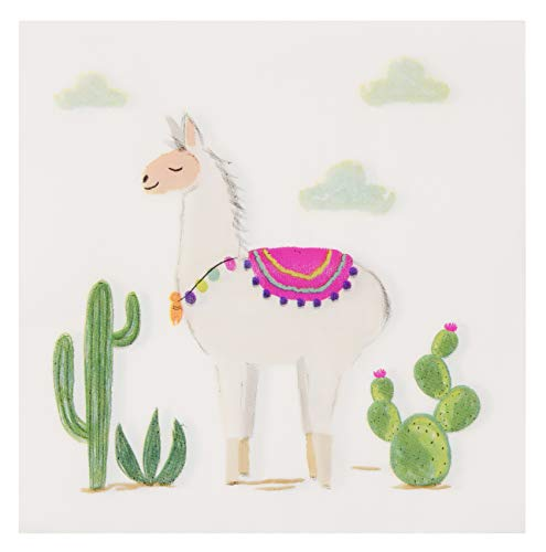 Llama Paper Napkins for Parties (6.5 x 6.5 Inches, 150 Pack)