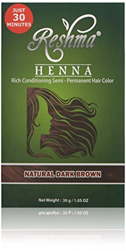 Reshma Beauty Natural Dark Brown 30 Minute Henna Hair Color (Best All Natural Beauty Products)