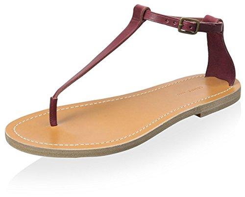 Sandale für Céline Damen Flache Bordeaux n7qn5YUw