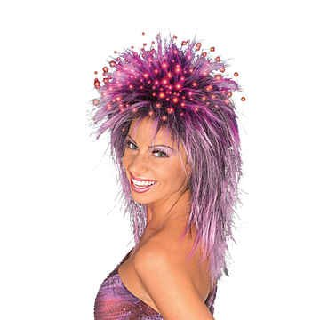 Purple Fiber Optic Wig (Fiber Optic Wig (Purple;One Size))