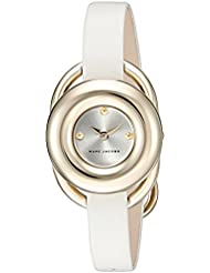 Marc Jacobs Womens Jerrie White Leather Watch - MJ1446