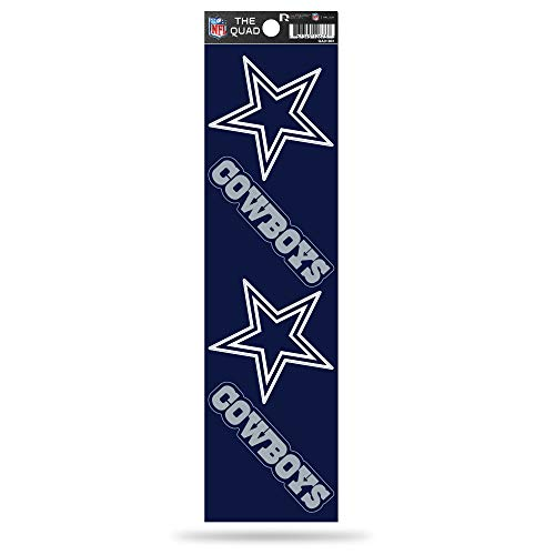 Rico Industries NFL Dallas Cowboys Die Cut 4-Piece The Quad Sticker -