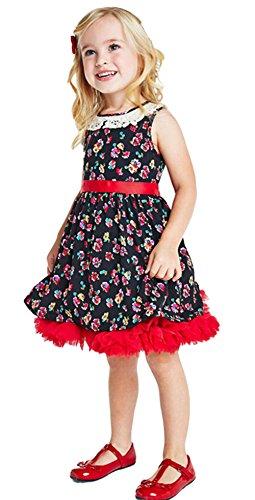 StylesILove Vintage Style Floral Sleeveless Baby Kids Girl Dress (100/18-24 Months)