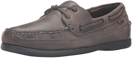r Boat Shoe, Dark Grey Tumbled Leather, 11.5 M US (Sebago Mens Slip)