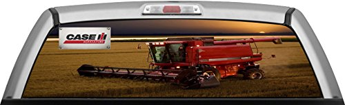 CASE IH AGRICULTURE - 2388 COMBINE SUNSET - by ITIGD : Truck Rear Window Decal Wrap