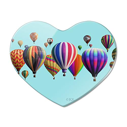Hot Air Balloons Lined Up Heart Acrylic Fridge Refrigerator Magnet